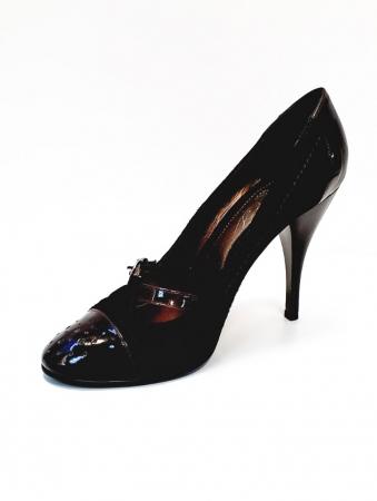 Pantofi cu toc Piele Naturala Corvaris Maro Cerma D026792