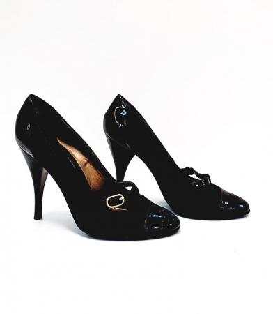 Pantofi cu toc Piele Naturala Corvaris Maro Cerma D026795