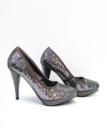 Pantofi cu toc Piele Gri Tensa D026843