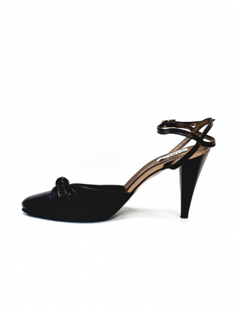Pantofi Dama Piele Naturala Negru Lisse D026881