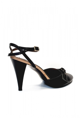 Pantofi Dama Piele Naturala Negru Lisse D026883