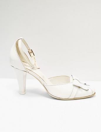 Pantofi Dama Piele Naturala Albi Erma D026891