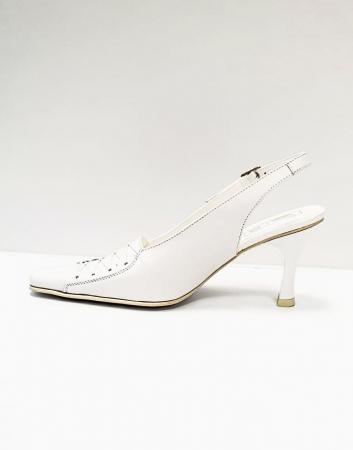 Pantofi Dama Piele Naturala Albi Xena D026951
