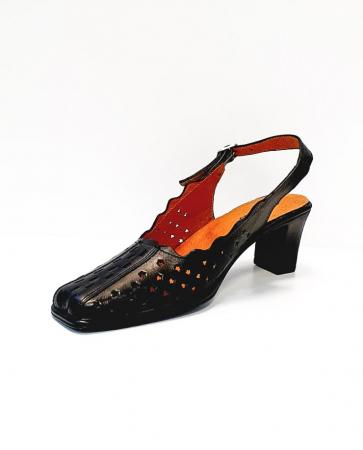 Pantofi Dama Piele Naturala Negri Omy D026943