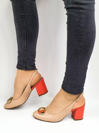 Pantofi Dama Piele Naturala Epica Bej Xia D026681