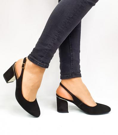Pantofi Dama Piele Naturala Epica Negri Ena D026690