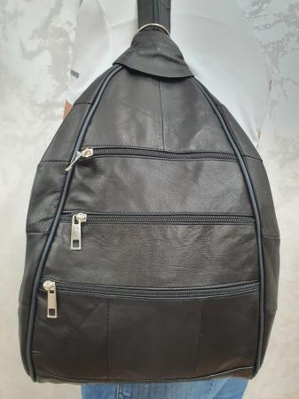 Rucsac Piele Dama Negru Seana G01500