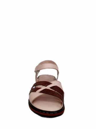 Sandale Dama Piele Naturala Nude Ielna D027138