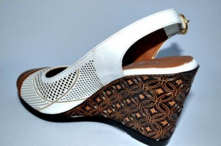 Sandale Dama Piele Naturala Albi Lola5