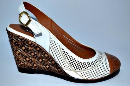 Sandale Dama Piele Naturala Albi Lola0