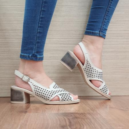 Sandale Dama Piele Naturala Bej Alexandra D024350