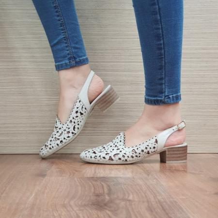 Pantofi Dama Piele Naturala Bej Dorina D02461 [1]