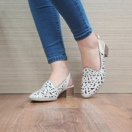 Pantofi Dama Piele Naturala Bej Dorina D02461 [2]