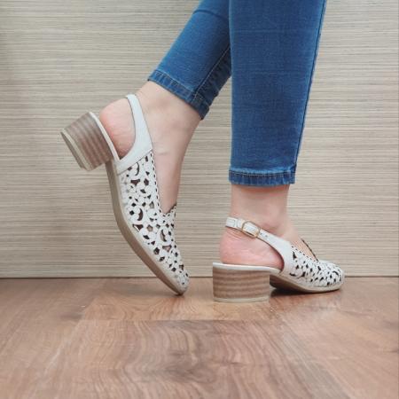 Pantofi Dama Piele Naturala Bej Dorina D02461 [3]