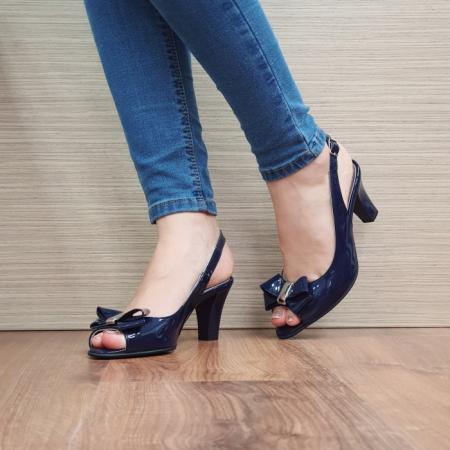 Sandale Dama Piele Naturala Bleumarin Katarina D024292