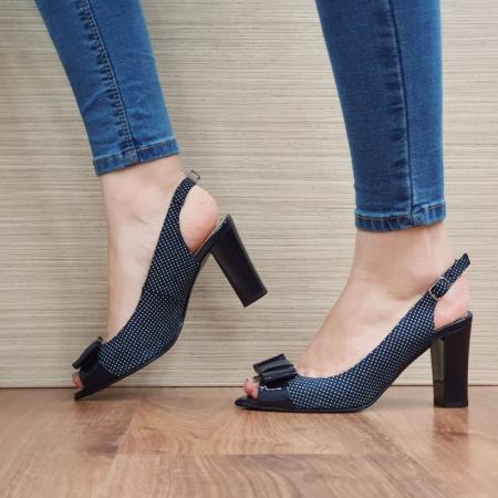 Sandale Dama Piele Naturala Bleumarin Noella D024241
