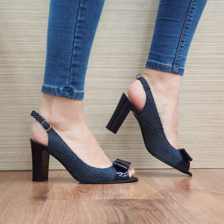 Sandale Dama Piele Naturala Bleumarin Noella D024240