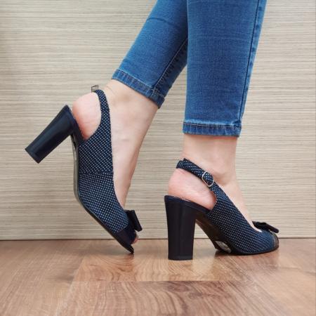 Sandale Dama Piele Naturala Bleumarin Noella D024243