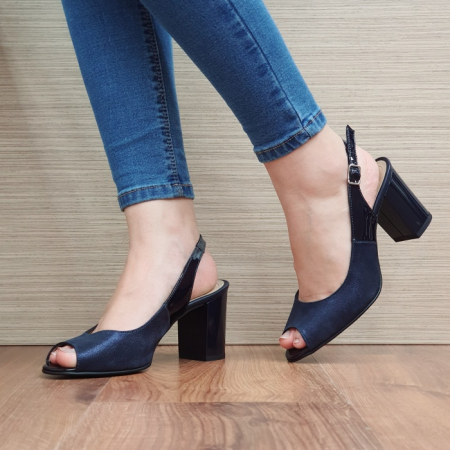 Sandale Dama Piele Naturala Bleumarin Rosalinda D024092