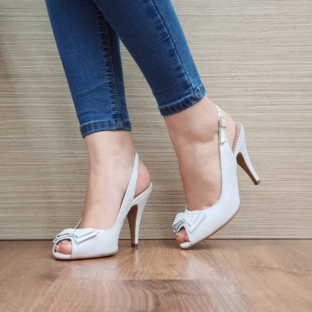 Sandale Dama Piele Naturala Guban Albe Alysa D024180