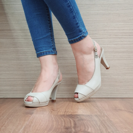 Sandale Dama Piele Naturala Guban Bej Beverly D024142