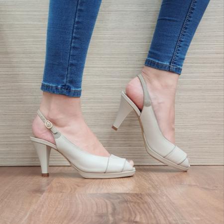 Sandale Dama Piele Naturala Guban Bej Beverly D024140