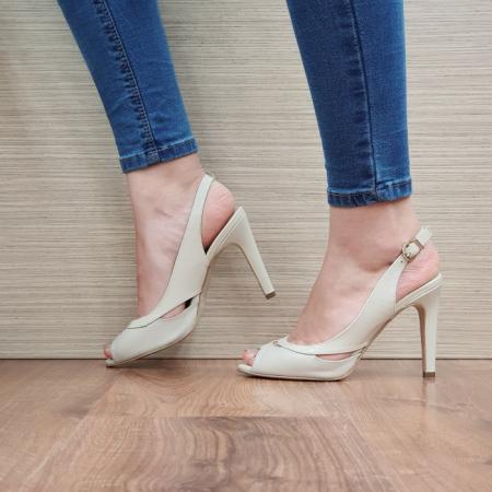 Sandale Dama Piele Naturala Guban Bej Maria D024151
