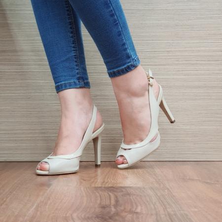 Sandale Dama Piele Naturala Guban Bej Maria D024152