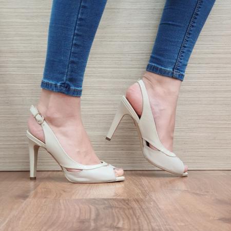 Sandale Dama Piele Naturala Guban Bej Maria D024150