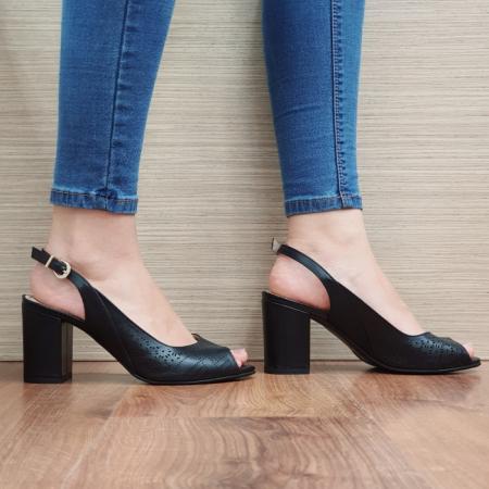 Sandale Dama Piele Naturala Guban Negre Ambrosia D016671
