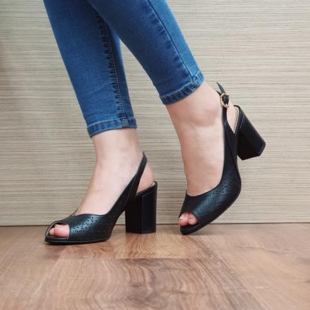 Sandale Dama Piele Naturala Guban Negre Ambrosia D016670