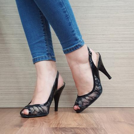 Sandale Dama Piele Naturala Guban Negre Scarlett D024002