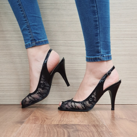 Sandale Dama Piele Naturala Guban Negre Scarlett D024001