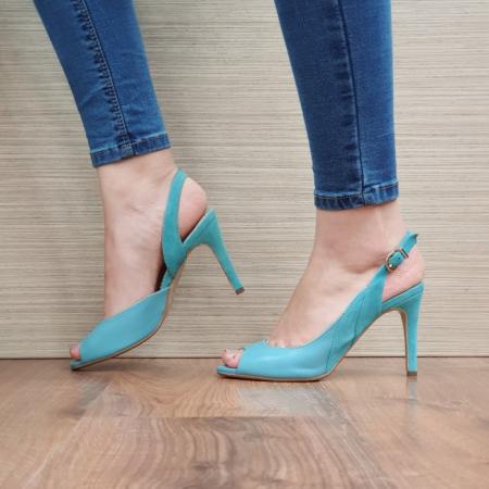 Sandale Dama Piele Naturala Guban Turquoise Katia D02417 [2]