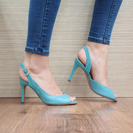 Sandale Dama Piele Naturala Guban Turquoise Katia D02417 [1]