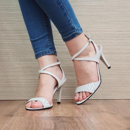 Sandale Dama Piele Naturala Moda Prosper Bej Augusta D024342