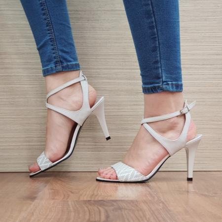 Sandale Dama Piele Naturala Moda Prosper Bej Augusta D024341