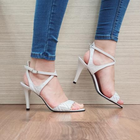 Sandale Dama Piele Naturala Moda Prosper Bej Augusta D024340