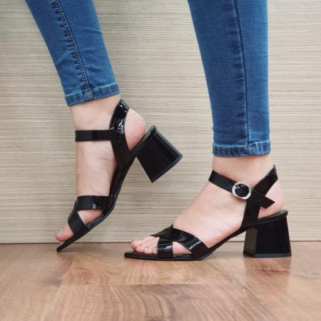 Sandale Dama Piele Naturala Moda Prosper Negre Celine D024041