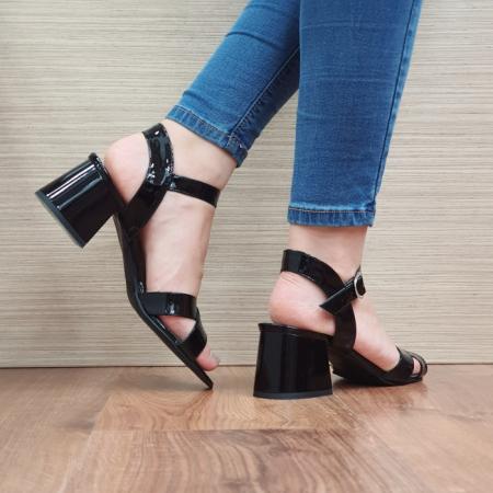 Sandale Dama Piele Naturala Moda Prosper Negre Celine D024043
