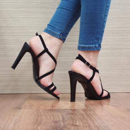 Sandale Dama Piele Naturala Moda Prosper Negre Shakti D024033
