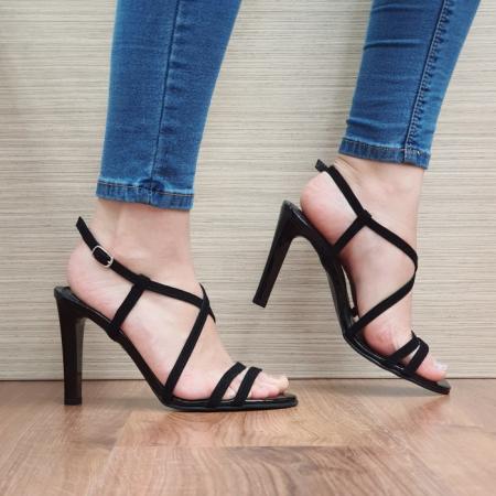 Sandale Dama Piele Naturala Moda Prosper Negre Shakti D024030