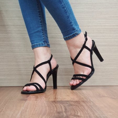 Sandale Dama Piele Naturala Moda Prosper Negre Shakti D024032