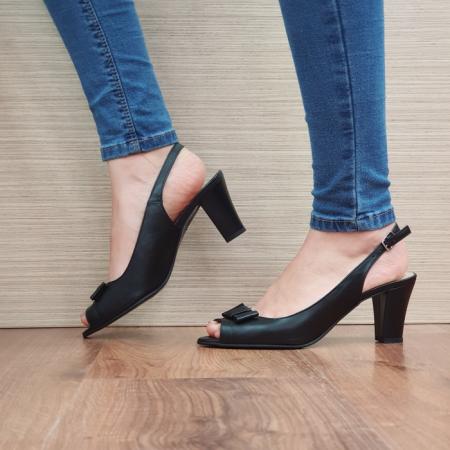 Sandale Dama Piele Naturala Negre Devon D02433 [1]