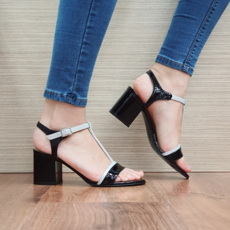 Sandale Dama Piele Naturala Negre Kasia D024110