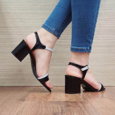 Sandale Dama Piele Naturala Negre Kasia D024113
