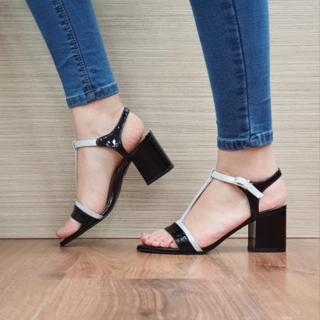 Sandale Dama Piele Naturala Negre Kasia D024111