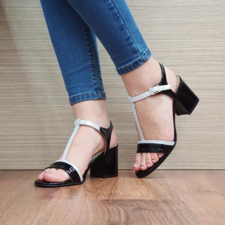 Sandale Dama Piele Naturala Negre Kasia D024112