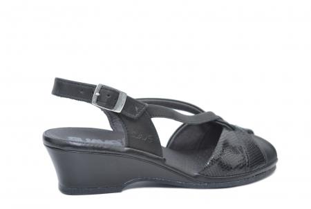 Sandale Piele Naturala Negre Lavi3