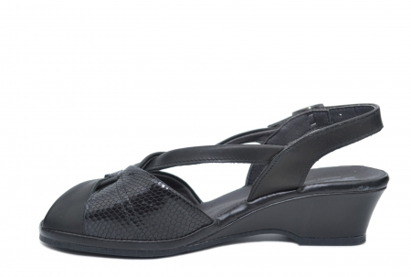 Sandale Piele Naturala Negre Lavi1